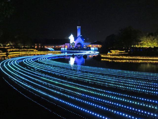 水上イルミネーション 光の大河(1)