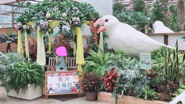掛川花鳥園の文鳥模型2