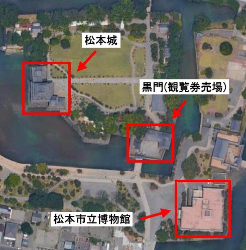 松本城のマップ